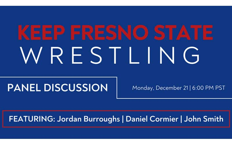 Featured image for the article: : Fresno State Wrestling Live Panel Discussion with Jordan Burroughs, Daniel Cormier, and John Smith