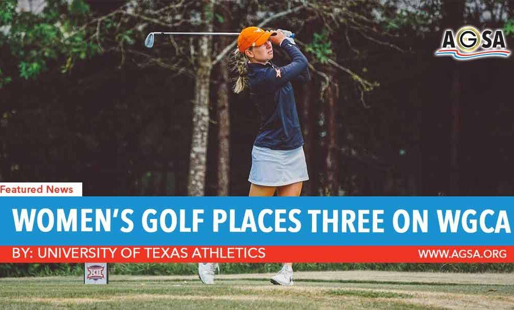 Women's Golf Places Three on WGCA All-America Teams